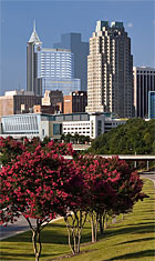 Cityscape of Downtown Raleigh, North Carolina
